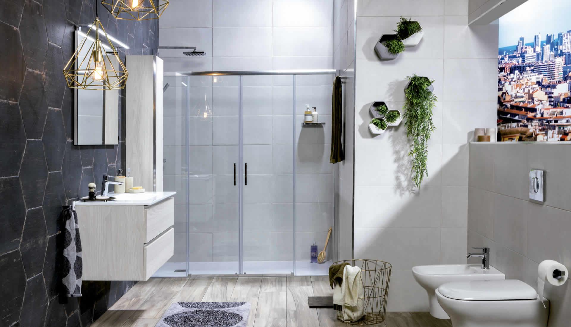 baños-inodoro-bidé-ducha-mampara-diseño-cerámica